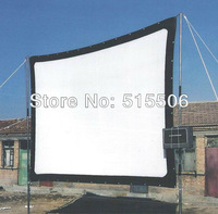 "free shipping 350"" inch matt white movie projection screen, soft projection screen with high contrast high definition 4:3 16:9"