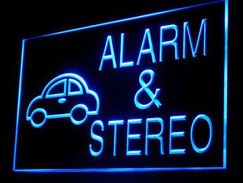 200038B Car Alarm & Stereo Shop Parts Ambulance Police Business LED Light Sign