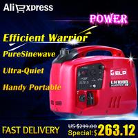 Ultra-quiet 1kW Digital Inverter Portable Power/Gasoline Generator LH1000i (RED), CE & TUV