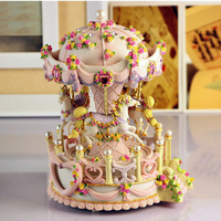 carousel musical box machine snow globe music box BY8122