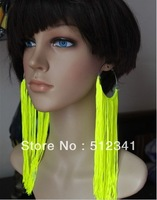 13Colors New Fashion  Women's Elegent Chic Earring Tassel Neon Drop Earrings Big Earring Hoop For Night Club