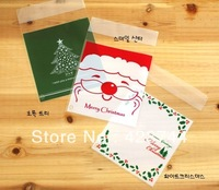 Wholesale 2013 Christmas clear cookie/biscuit plastic gift bag for food gift packaging 10*11cm free shipping!