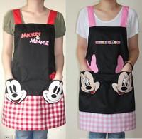 2014 real crafts avental de cozinha divertido black mickey aprons kitchen accessories fashion overalls home apron japan cartoon