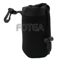 Wholesale!! High quality FOTGA  Soft Neoprene Matin DSLR Lens Bag Case M Size w/ hook FOR Nikon Canon Panasonic