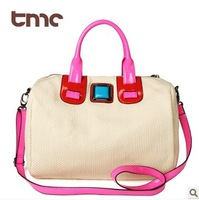 TMC 2013 Color Block Line Cotton Knitted Casual Drum Bag Messenger Bag Totes Shoulder Bag YL050