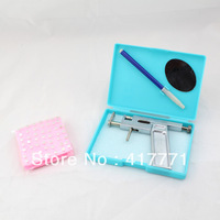 Free Shipping Healthy Asepsis Ear Body Studs Piercing Gun Pierce Tool Kit  98 Pcs FREE STUDS New