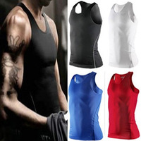 TP95 S-XXL Men Body Compression Base Layer Sleeveless Sport Vest Thermal Under Top Tees Tank Tops High Flexibility Free Shipping