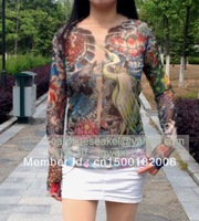 new arrival free shipping 50%off sexy  Temporary tattoo cloth tattoo shirt