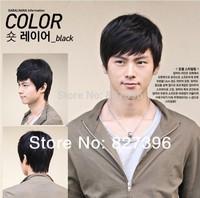 Wholesale Price  Black Fashion Men's Short Layered Wig