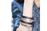 Min.Oder Is $10 Can Mix Orders! 2013 Westen Punk  Vintage Metal Zipper Bangle Bracelet For Women Fashion Cheap Jewelry Accessory