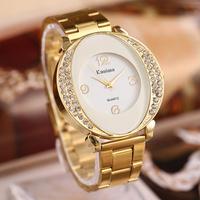 The new high quality steel band watch men, rhinestone watch, quartz watch, free shipping