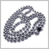 "---Min.Order $10--- 60cm 24"" Stainless Steel Ball Chain With Bean clasp Men's Necklace for pendant Free Shipping"