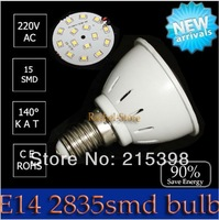 10PCS/lot led bulb lamp High brightness e14 4w 5w 2835SMD Cold white/warm white AC220V 230V 240V Free shipping