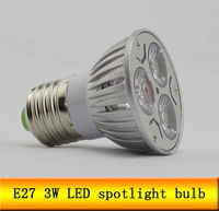 6pcs 110v 220V 3W E27 LED Light Lamp Spot Light Free Shipping