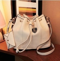 Original Top sell 2013 Promotion HOT European/College Style PU Leather Fashion Bucket Bag Handbag New product/RECO On Sale