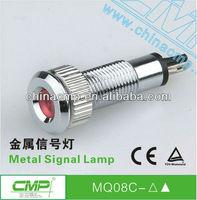 automotive Single light source 12v 110v 220v led Signal Lamp metal waterproof Pilot Lamp,anti-vandal indicator light