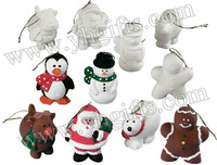 12PCS/LOT.Handpainted unfinished christmas decoration hanger,Chirstmas tree ornament,Xmas crafts.Christmas toys,6 design,8cm.