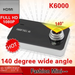 Original K6000 Full HD Car DVR 1080P 25fps Night Vision Video Recorders Mini Camera G-Sensor Russian NOVATEK or SUNPLUS(China (Mainland))