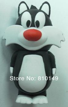 Tom Cat Shape USB Flash Disk  4GB 8GB 16GB 32GB 64GB Pen Drive Memory Free shipping