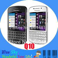Hot sale 100% original Q10 Blackberry Q10 mobile phone 3G 4G Network 8.0MP Dual-core 2G RAM+16G ROM Free shipping