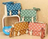 2015 Female small bags polka dot women's handbag vintage bag handbag messenger bag polka dot bags