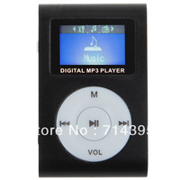 the lowest price! 1pc/lot clip mp3 player with screen, card slot support 1~16Gb TF card, FM mini mp3 player free shipping
