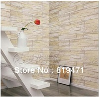 Freeshipping Thickening pvc wallpaper revealed at beijing Wall stone wallpaper 0.5m(25inch)width*3m(118inch)length/ROLL