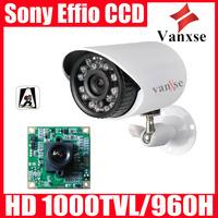 Vanxse 22IR LED CCTV Sony Effio CCD 960H/1000TVL OSD bullet Security Camera D/N waterproof Srveillance Camera w/Bracket