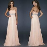 dance dress Floor Length Chiffon Long Evening Gowns Formal Long Dress Cheap 2014 dance dress bridesmaid dress