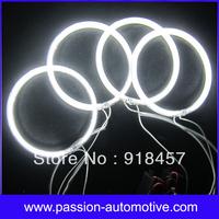 7500K Warm White Halo Rings For BMW E32 E34 M5 CCFL Angel Eyes with 4 CCFL Angel Eyes Rings and 2 CCFL Inverter Free Shipping