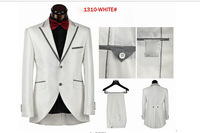 Free shipping wholesale white mens wedding party suit