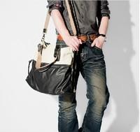 Free shipping 2013 new arrivals man bag big bag handbag shoulder bag messenger bag Pu leather bag for men business bag SB014