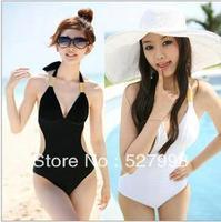 biquini Promotion Free Shipping Cheap Women's Sexy Black White Swimsuit Swimwear Beachwear Bikini Set M L XL biquini