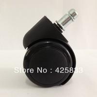 50mm Insert Pure Black Nylon&PU Rubber Plastic Swivel Nylon Desk PU Polyurethane Caster Wheel 60kg