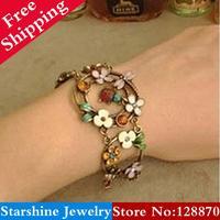 Min Order $5 Mix PL02501 Fashion vintage rustic vintage oil small ladybug dragonfly pendant bracelet