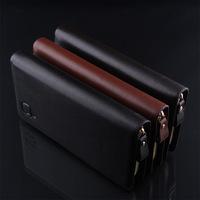 PU Leather Wallet Passport Cover Clutch Bags Handbags Designers Long Brand Wallet Men Purse&Key Holder Free Shipping
