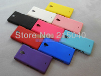 Free Shipping, Rubber Matte Hard Back Case for Sony Xperia T Lt30i Lt30p, Colorful Frosted Cover for Sony Xperia T, SON-003