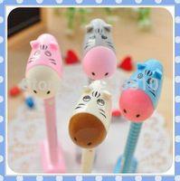 [Amy] free shipping South Korea stationery 36pcs/lot creative cute cartoon ultra Q little donkey can stand ballpoint pen