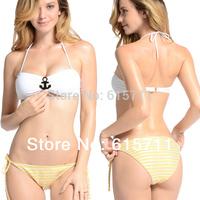 Sexy Women's Bikini Set Beachwear Ladies' Fashion Swimwear Swimsuit Navy Style S M L#PA007 Free Shipping