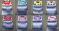 Fashion baby kids navy blue flower top Baby Girls navy blue stripe summer flower top T shirt  Free shipping
