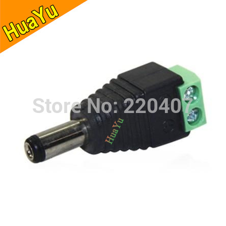 100pcs/lot 5.5/2.1mm DC Connector CCTV UTP Cable Power Plug Adapter Cable DC/AC 2/Camera Video Balun Connector Free shipping(China (Mainland))