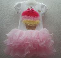 wholesale baby new b2w2 girl dress tutu princess dress  ,short sleeve dress 5pcs/lot free shipping XD-1