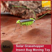 Free Ship  5xSolar Grasshopper Insect Bug Moving Toy, Lovely Mini Solar Energy Powered Child Kid Toy Locust