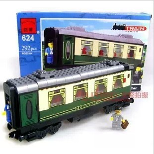 Enlighten 624 292pcs plastic building block sets train Deluxe Passenger Car eductional construction bricks blocks children toys(China (Mainland))