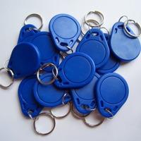 100PCS Blue IC Identification Door Entry Access Key Keyfob Card 13.56MHZ S50 fudan free shipping