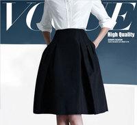 Skirts womens new 2014 fashion ol work skirt a-line pleated skirt winter knee-length high waist skirt  saias femininas