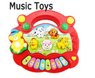 Child  Learning & Education Classic Baby Electronic Musical Instrument Toys Animal Farm Plastic Electronic Piano / Free Shipping(China (Mainland))