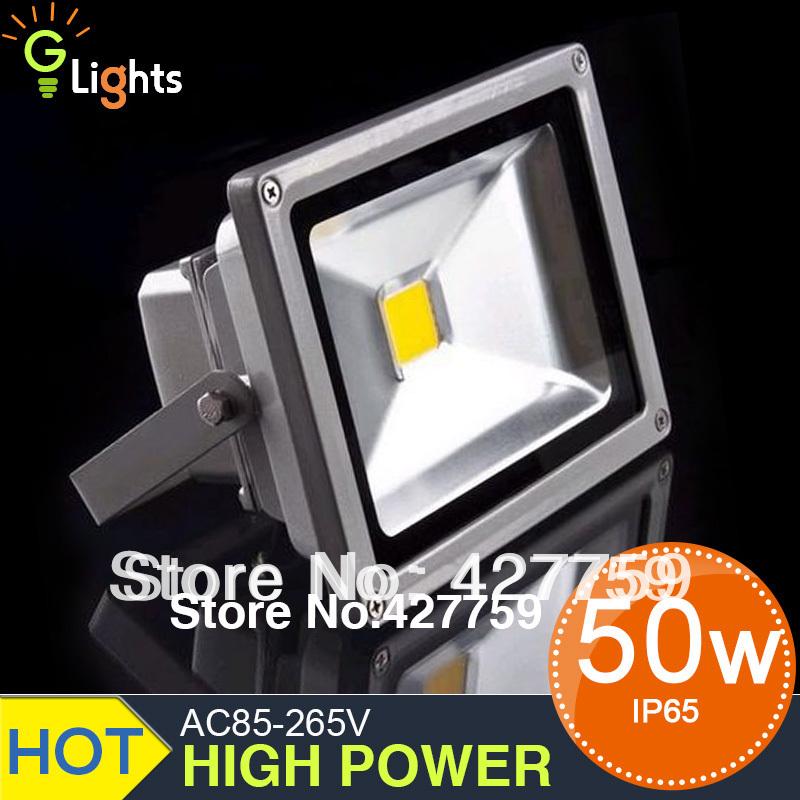 AC 85-265V 50W LED Floodlight Outdoor Flood light Bridgelux or EPISTAR 45 mil Landscape LED Flash Light / lighting Warm white(China (Mainland))