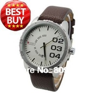 New CURREN 8125 Brand Analog Quartz Dress Men Watch With Faux Leather Strap (4 kinds of color)