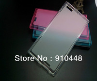 Free shipping 100pcs/lots soft silicone TPU frosted back case COVER for Lenovo K900
